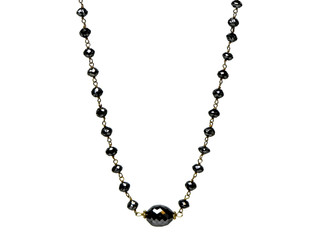 Black Round Diamonds with Oval Center Diamond