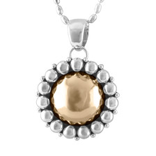 Sterling Silver and 14k Gold pendant by Navajo artist Artie Yellowhorse