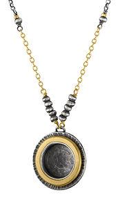 Designer Necklace Black Chain Circle.jpg