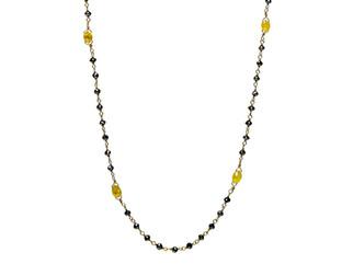 Black Round & Yellow Oval Diamonds