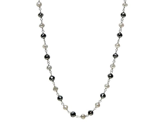 Black & Grey Round Diamonds