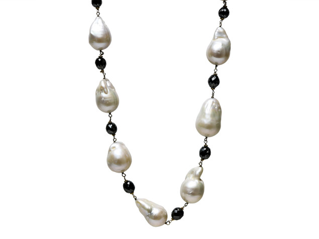 Black Diamond & South Sea Baroque Pearl