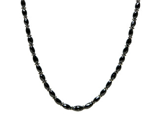 Black Oval Diamonds with Rondels