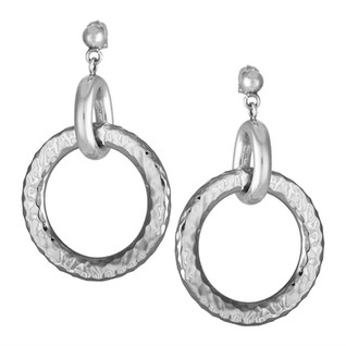 Sterling Silver hammered earrings from Taxco, Mexico