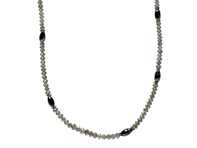 Grey Round & Black Oval Diamonds