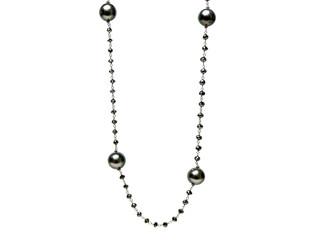 Black Diamonds & Grey Culture Pearls