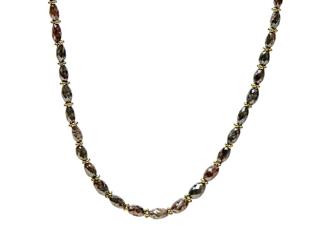 Brown Oval Diamonds with Rondels