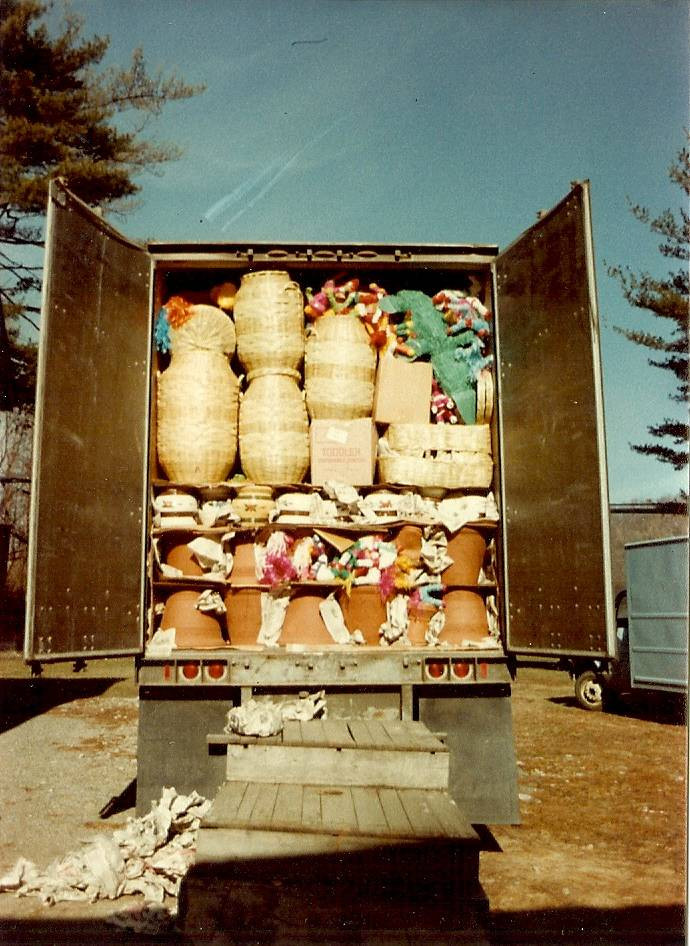 The truck as it looked upon arrival to our warehouse in Brewster. Time to get ready to unload! 1981