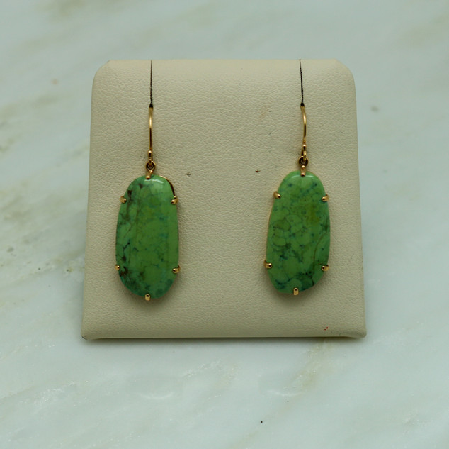Gaspeite Hanging Earrings