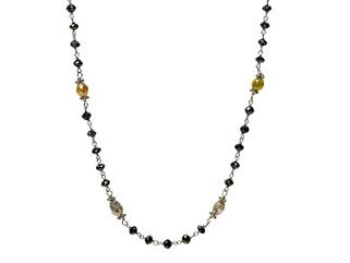 Black Round & Multicolor Oval Diamonds