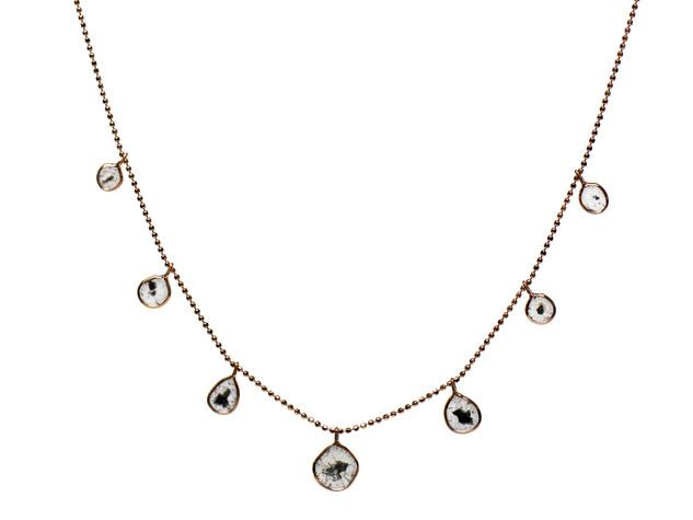 Diamond Slice Drop Necklace