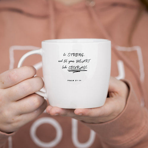 Small Scripture Mug White