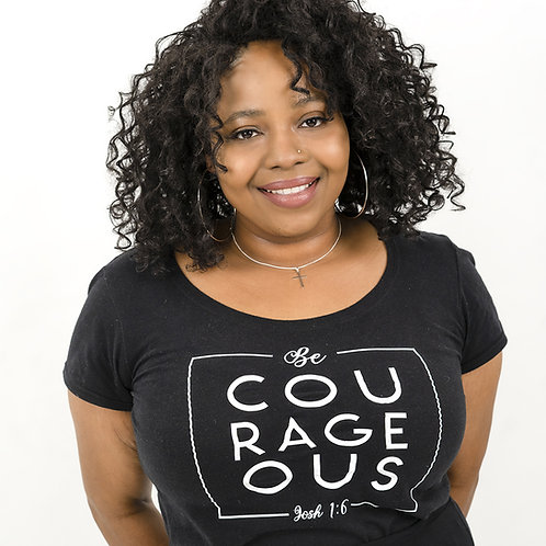 Be Courageous Black T-Shirt
