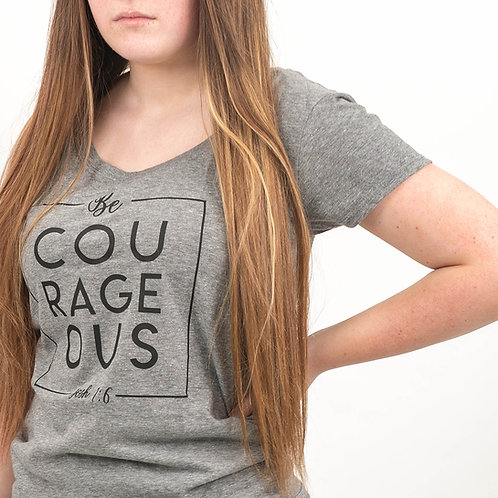 Be Courageous Grey T-Shirt