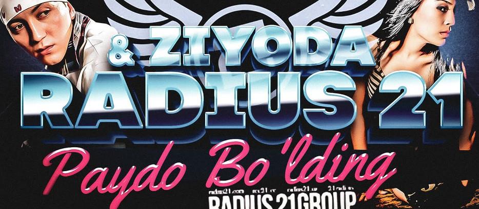 Radius 21 ★ Ziyoda — Paydo Bo'lding / Lyrics Video 2019