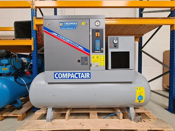 Creemers RCA7.5/500CD Schroefcompressor 7.5 kW 996 l/min bouwjaar 2013