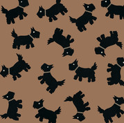 'BLACK SCOTTIE DOG' CARD (R.Goodchild).j