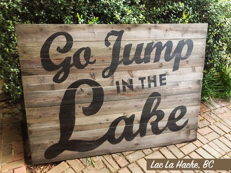 Go Jump In The Lake - It's Warm, Pristine And Wonderful