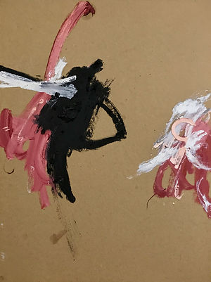'gestures with pink semi-circle'