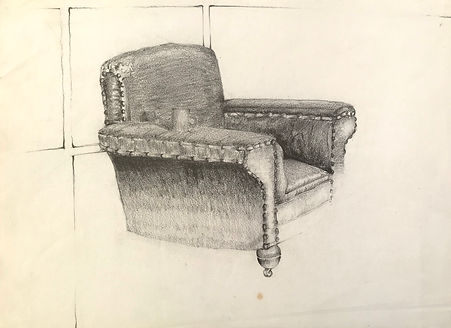 'old leather chair' 1973
