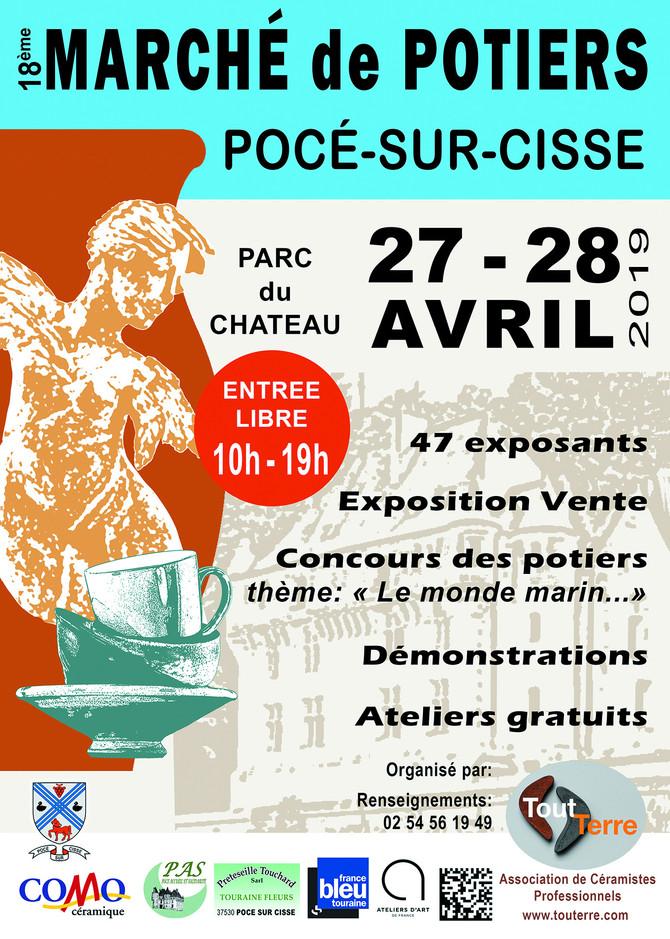 Marché de Potiers à Pocé sur Cisse près d'Amboise