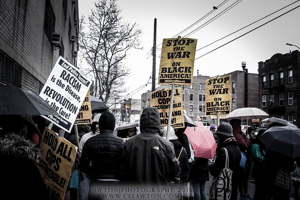 Rally for Akai Gurley, East NY, Brooklyn, April 2016, photo by CE Lawton