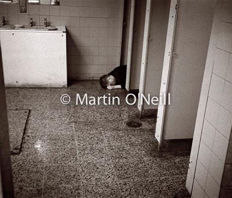 Drunk in toilets, Manchester