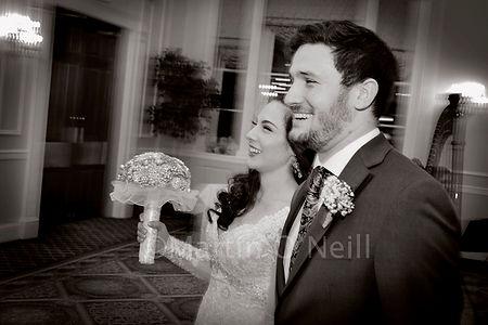 Bride, groom, laugh, wedding