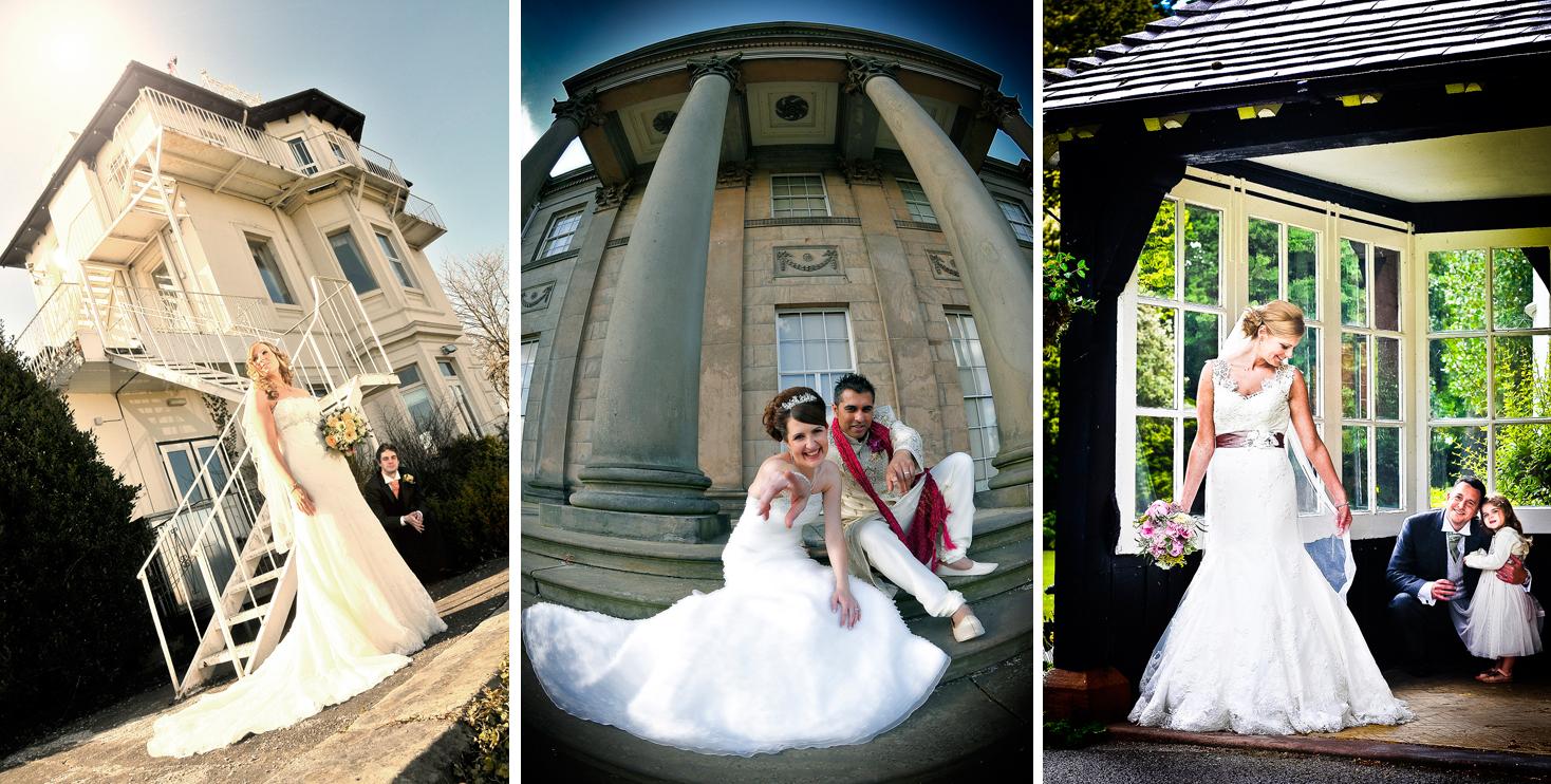 Bridal photos at Cheshire venues