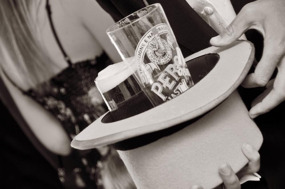 Beer, top hat, wedding