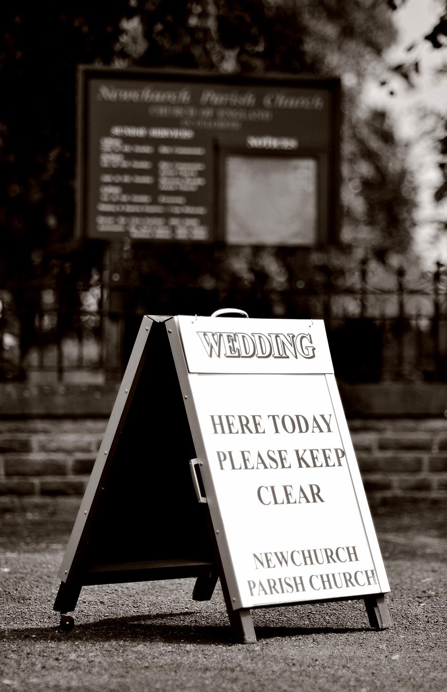 Wedding sign, Culcheth