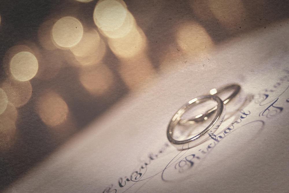 Wedding rings, photography