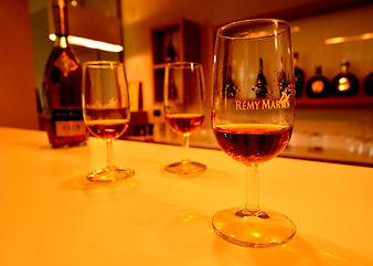 Remy Martin, Cognac, glasses, bottle