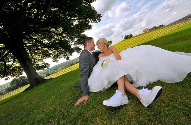 Bride, trainers, Heaton House