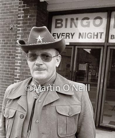Cowboy at Bingo Hall, Eccles
