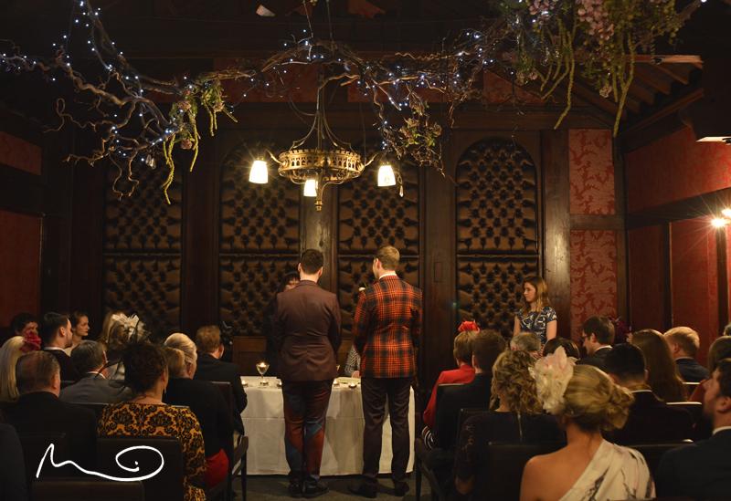 Grooms, wedding ceremony, hotel