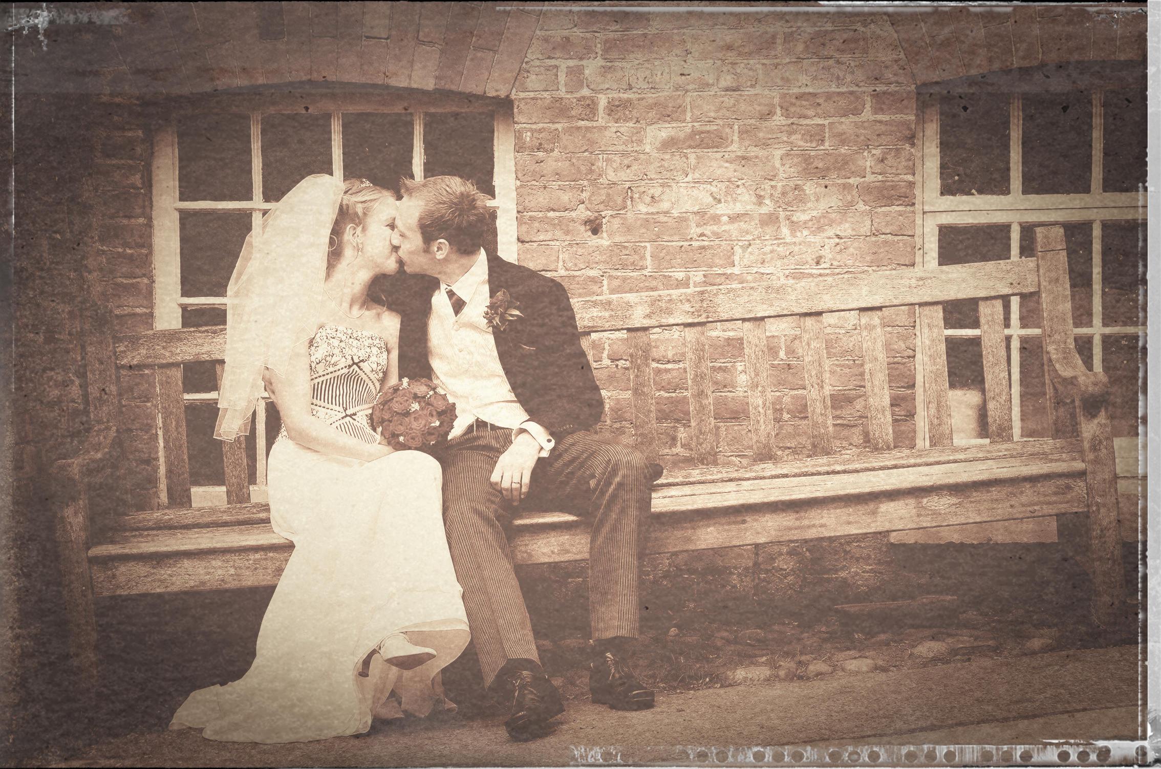 Bride, groom, Quarry Bank Mill