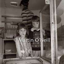 Youngsters in a catering van