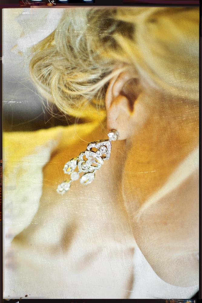 Earrings, bride, wedding