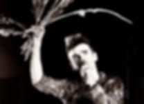 Morrissey, singer, gladioli