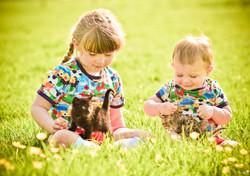 Children, field, play