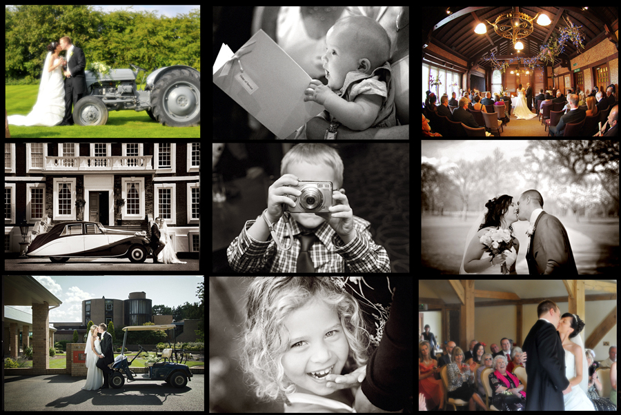 A montage of fun weddings