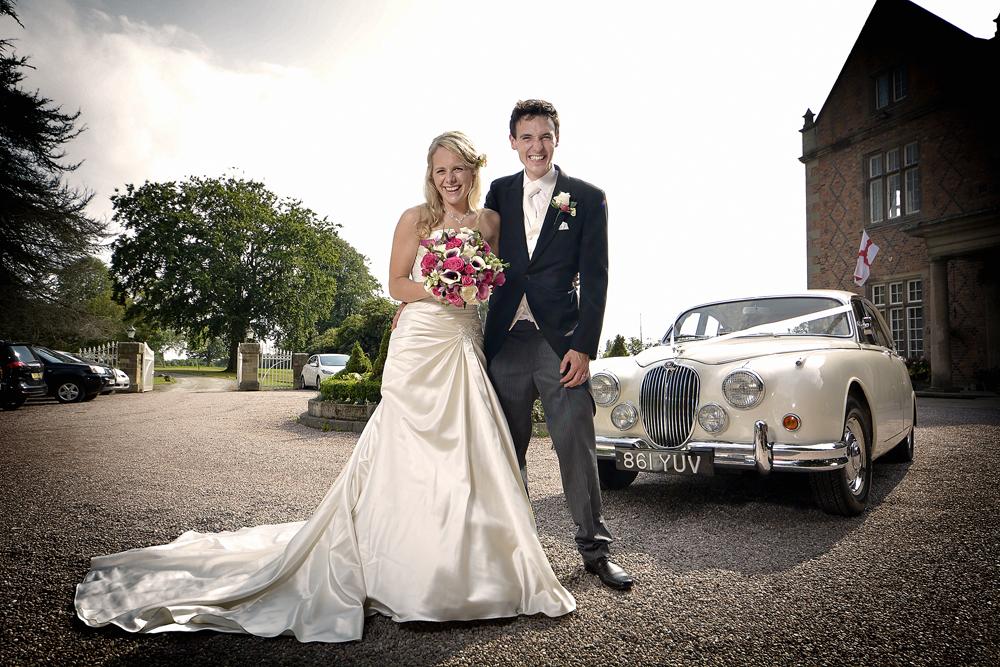 Bride, groom, Willington Hall