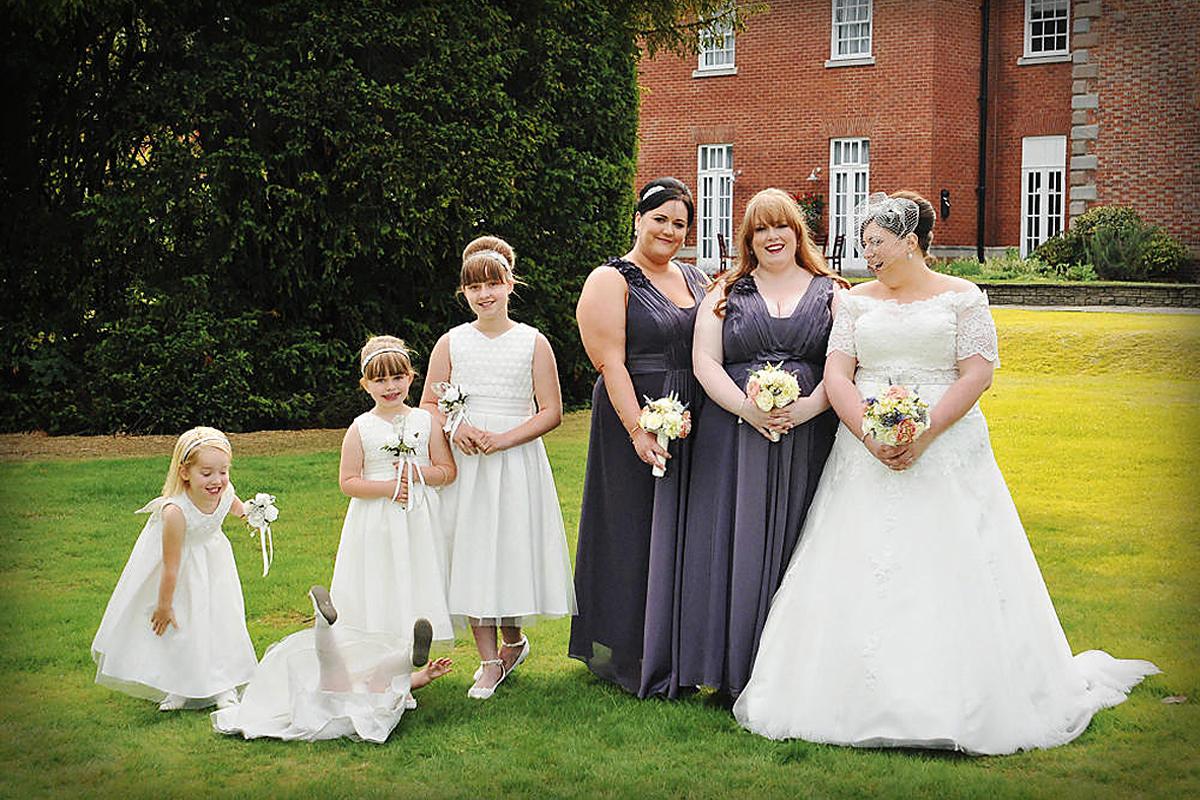 Bride, bridesmaids, Mottram Hall