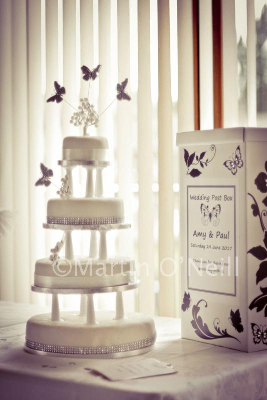 Wedding cake and card box