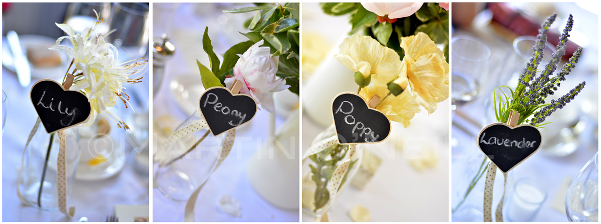 Flowers as Table Names