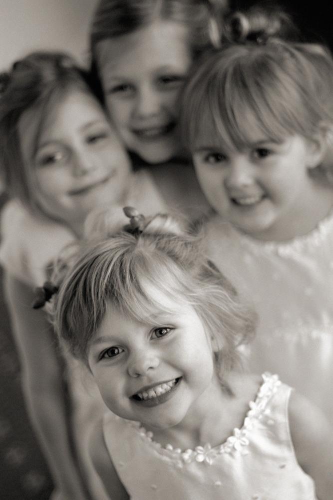 Flower girls, wedding, Lancashire
