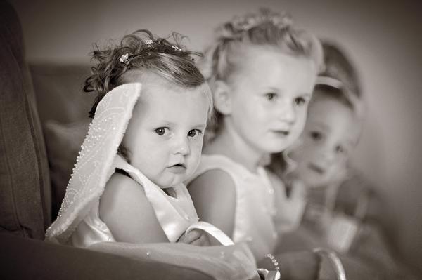 Girls dressed as angels