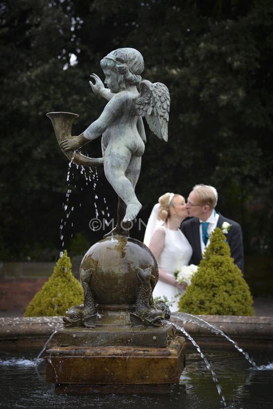 Bride, groom at Willington Hall foun