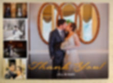 Thank you card, wedding, bride